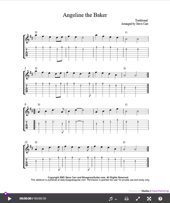 Lead Tab Page - The Bluegrass Guitar Home Page