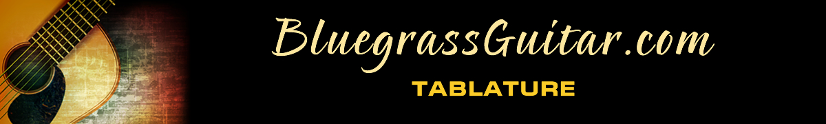 The Bluegrass Guitar Home Page masthead